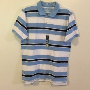 Boy's Blue/White Striped S/S Shirt NWT Sz 14-16H